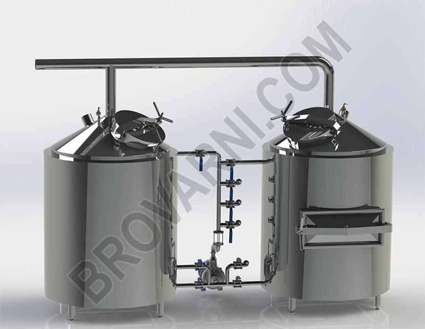Brewhouse at 300 liters per brew