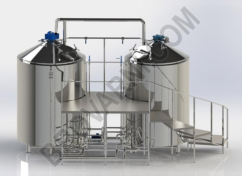 Brewhouse at 2000 liters per brew