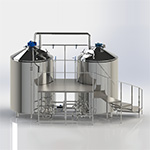 Minibrewery for 2000 l. per brew